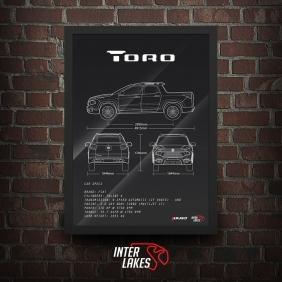 QUADRO/POSTER FIAT TORO ULTRA 2.0 2020