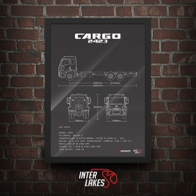 QUADRO/POSTER FORD CARGO 2423 6X2 2018