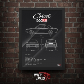QUADRO/POSTER FORD CORCEL GT 1975