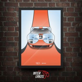QUADRO/POSTER FORD GT40 - SÉRIE ICONS