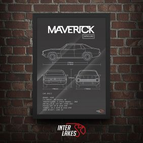 QUADRO/POSTER FORD MAVERICK SL SEDAN