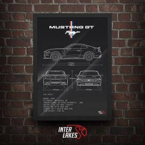 QUADRO/POSTER FORD MUSTANG GT 2018