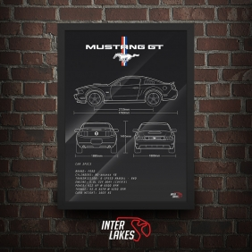 QUADRO/POSTER FORD MUSTANG GT PREMIUM 2012