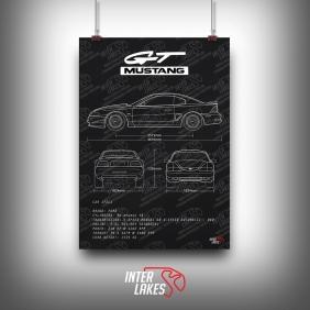 QUADRO/POSTER FORD MUSTANG GT V8 1995