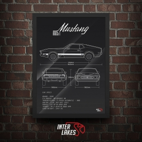 QUADRO/POSTER FORD MUSTANG MACH 1 1973