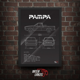 QUADRO/POSTER FORD PAMPA 1.8 1997