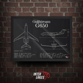 QUADRO/POSTER GULFSTREAM G650