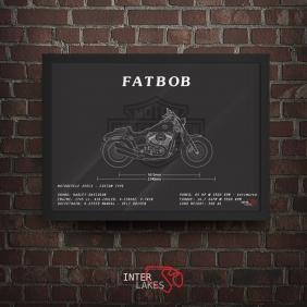 QUADRO/POSTER HARLEY-DAVIDSON SOFTAIL FAT BOB 107 2018