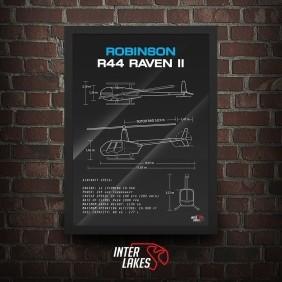 QUADRO/POSTER HELICÓPTERO ROBINSON R44 RAVEN II