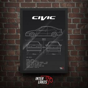 QUADRO/POSTER HONDA CIVIC COUPE EJ8