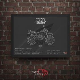 QUADRO/POSTER HONDA XLX 350R