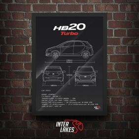 QUADRO/POSTER HYUNDAI HB20 1.0 TURBO 2017