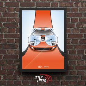 QUADRO/POSTER ICONS FORD GT40