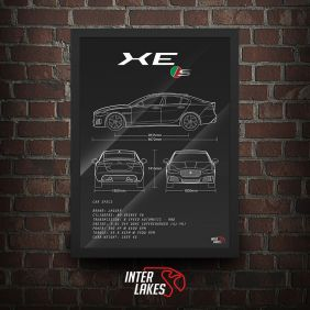 QUADRO/POSTER JAGUAR XE-S SUPERCHARGED 2017