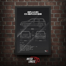 QUADRO/POSTER JEEP GRAND CHEROKEE 5.9 LIMITED 1998