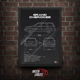 QUADRO/POSTER JEEP GRAND CHEROKEE LIMITED V8 1997