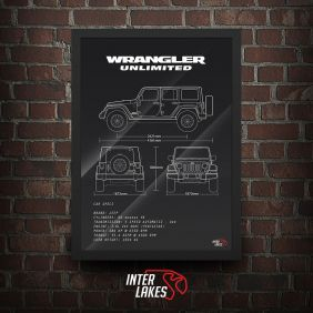 QUADRO/POSTER JEEP WRANGLER UNLIMITED SPORT 2017