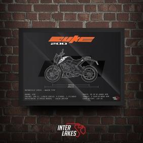 QUADRO/POSTER KTM DUKE 200 2019