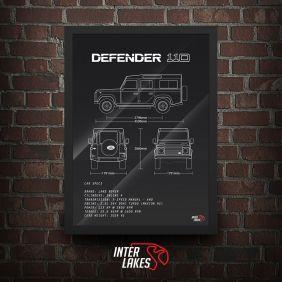 QUADRO/POSTER LAND ROVER DEFENDER 110 2.5 300TDI