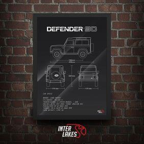 QUADRO/POSTER LAND ROVER DEFENDER 90
