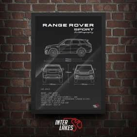 QUADRO/POSTER LAND ROVER RANGE ROVER SPORT AUTOBIOGRAPHY 2014
