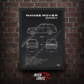QUADRO/POSTER LAND ROVER RANGE ROVER SPORT SE V6 2011