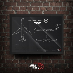 QUADRO/POSTER MCDONNELL DOUGLAS MD-11