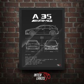 QUADRO/POSTER MERCEDES-BENZ A35 AMG LAUNCH EDITION