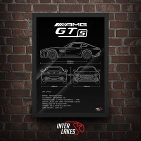QUADRO/POSTER MERCEDES-BENZ AMG GT-S 2015