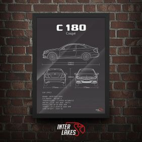 QUADRO/POSTER MERCEDES-BENZ C180 COUPE