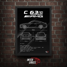 QUADRO/POSTER MERCEDES-BENZ C63S AMG W205 COUPE