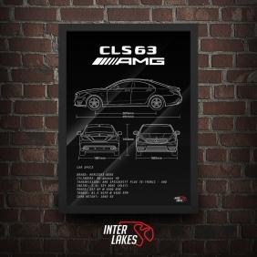 QUADRO/POSTER MERCEDES-BENZ CLS63 AMG W218