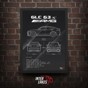 QUADRO/POSTER MERCEDES-BENZ GLC 63S AMG COUPE 2018