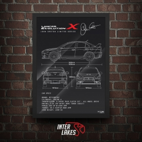 QUADRO/POSTER MITSUBISHI LANCER EVO X JOHN EASTON