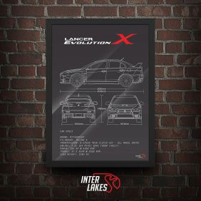 QUADRO/POSTER MITSUBISHI LANCER EVO X MR