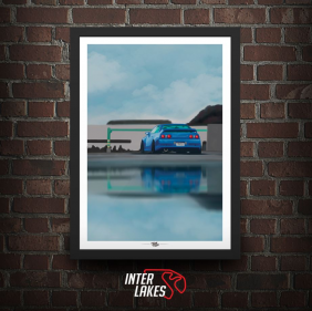 QUADRO/POSTER NISSAN SKYLINE R32 - TOON MY CAR