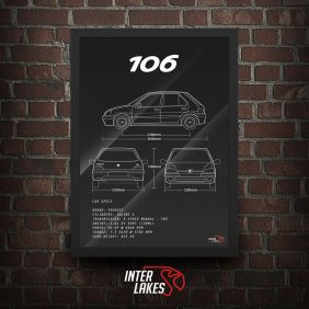 QUADRO/POSTER PEUGEOT 106 SELECTION 4P