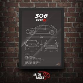 QUADRO/POSTER PEUGEOT 306 GTI-6
