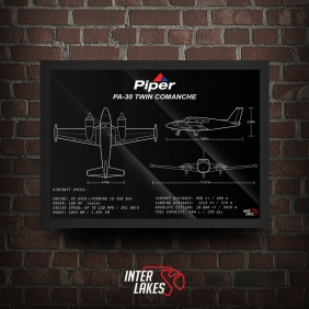 QUADRO/POSTER PIPER PA-30 TWIN COMANCHE