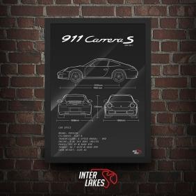 QUADRO/POSTER PORSCHE 911 CARRERA S 997.1