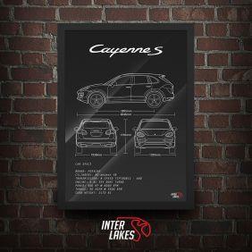 QUADRO/POSTER PORSCHE CAYENNE S 4.8 V8 2012