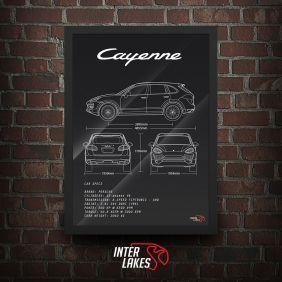 QUADRO/POSTER PORSCHE CAYENNE V6 2013