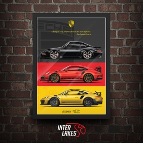 QUADRO/POSTER PORSCHE NEW TRIBUTE