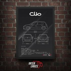 QUADRO/POSTER RENAULT CLIO 1.0 16V 4P 2010