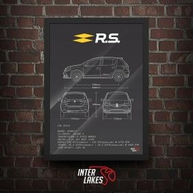 QUADRO/POSTER RENAULT SANDERO RS 2020