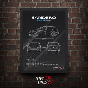 QUADRO/POSTER RENAULT SANDERO TECH RUN