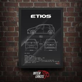 QUADRO/POSTER TOYOTA ETIOS 1.5 XLS