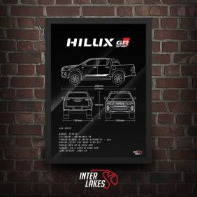 QUADRO/POSTER TOYOTA HILUX GR-S 4.0 V6 2020