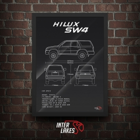 QUADRO/POSTER TOYOTA HILUX SW4 1998