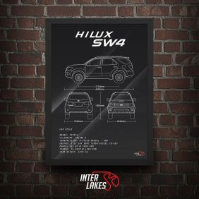 QUADRO/POSTER TOYOTA HILUX SW4 2010